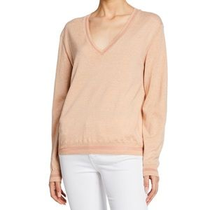 RAG & BONE Kento V Neck Pima Cotton Sweater